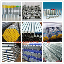 BS1387-1985 ASTM A 53 hot dipped galvanized steel tube made in China