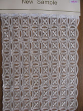 Best Quality White Cotton Lace Embroidery Fabric/ White African Lace Fabrics Cotton Lace For Wholesaler
