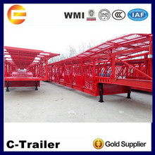 Chinese trailer factory 2 axles 3 axles 8 units car semi-trailer type car transporter