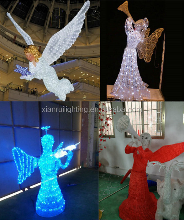 Outdoor led rope light christmas motif decoration light for Angel outdoor decoration