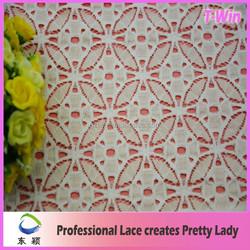 Fashion Wedding Embellished Lace Fabric Garment Material 2015