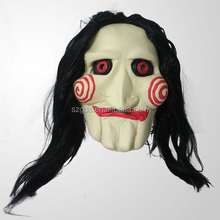 Wholesale bottom price Movie theme Halloween Saw mask with wig horror mask latex high quality halloween latex mask