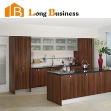 LB-DD1017 China made walnut veneer kitchen cabinet, island kitchen cabinet, kitchen base cabinet