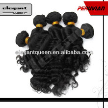Hot sale Wavy Natural color unprocessed 5a human virgin peruvian hair
