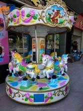 Paseos en carrusel para la venta, feliz va ronda equipos de juego para parque de atracciones