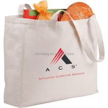 Organic cotton bag, recyclable shopping cotton bag