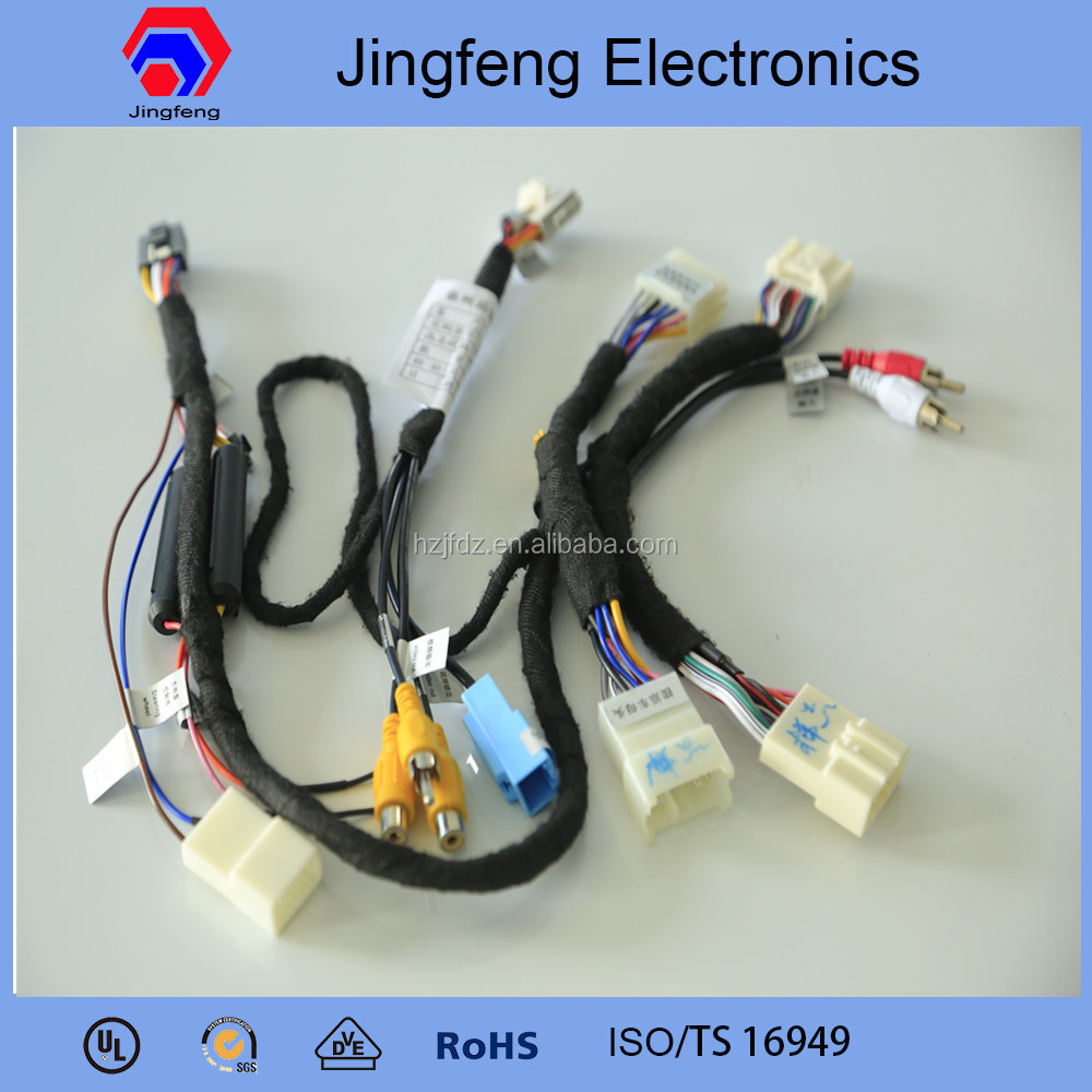 Profrssional car stereo wiring harness made in china for