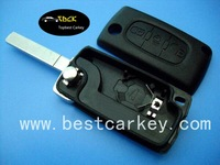 Topbest for Peugeot 307 smart flip key shell key cover hyundai with light button