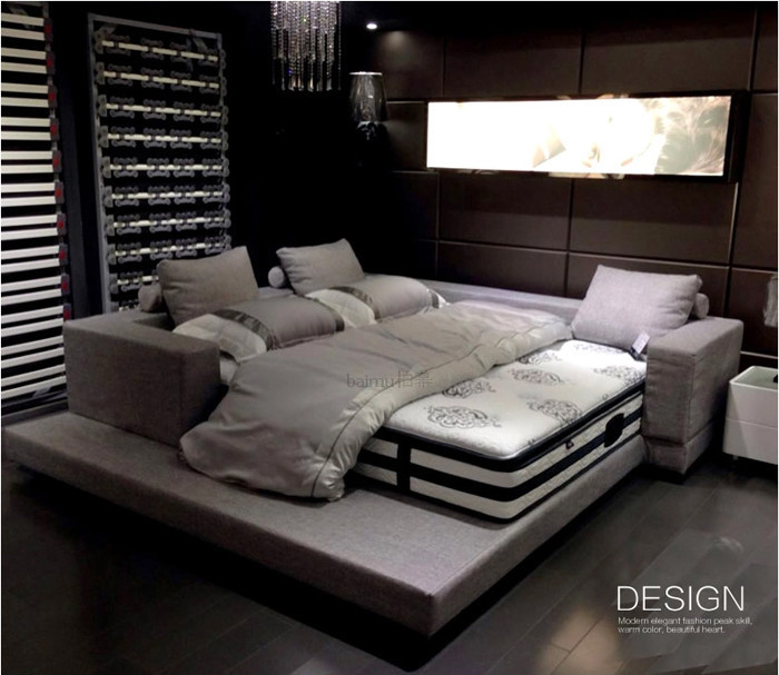 Diseño súper cama king size, muebles de dormitorio de matrimonio ...