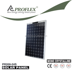 Competitive Price 200W Monocrystalline Transparent Solar Panel /Solar Cell