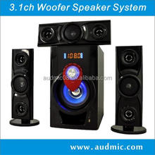 3.1ch hi-fi subwoofer speaker for home use with FM radio/USB/SD/Remote control/ LED display