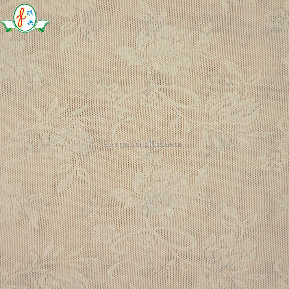 Skin Color Fabric Skin Color Jacquard Power Net