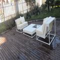 branco moda ao ar livre mobiliário ratan sofá jardim ikea