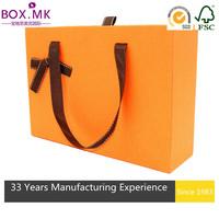 Ecofriendly Orange Square Baby Blanket Packaging Box