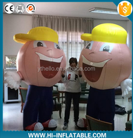 2015 cute factory price inflatable moving boy cartoon,inflatable figure,inflatable costume