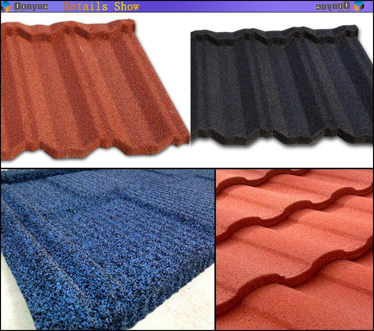 Stone Chip Coated Metal Roofing Tile Plastic Roof Sheet