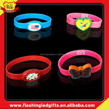 2015 New Items 10% Discount Advertising Promotion Gift Items LED rubber bracelet