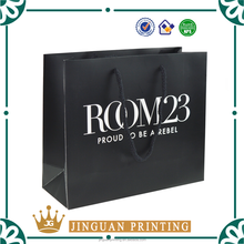 Custom logo printed paper shopping bag, luxury paper shopping bag