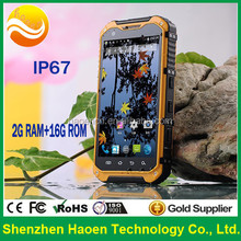 Shenzhen IP67 waterproof Rugged mobile Phone Android cell Phone NFC Smartphone with Android4.4 Wifi Bluetooth BLE 3G MTK6582