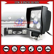 NEW Square 15W LED Work Light For Truck Tractor 4WD Mine offroad vehicles worklights