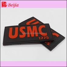 3d customized rubber iron on label patch on transfers for shoes for hand bag, OEM welcome