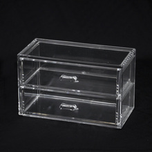 2 Tier Drawer Trasnparent Acrylic Plastic Storage Case