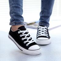 M1141 Cheap canvas shoes fashion leisure plain boys girls lace up canvas shoes