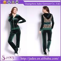 New fashion classic design branded women sport suits velour
