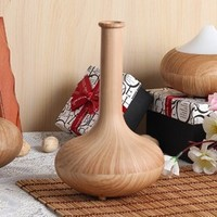 Essential Oil Aromatherapy Diffusers - Quiet Electric Ultrasonic Humidifier Air Purifier With Auto Power Off GX-01K light wood
