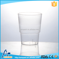 Wholesale Airline high quality cheap PS disposable clear plastic drinking cup
