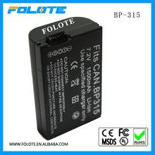 digital camera battery BP-315 work for Canon 7.2v 1500Mah