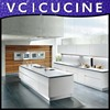 Foshan affordable modern pvc white metal kitchen cabinets