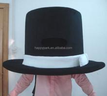 fur/plush black hat model in model costume