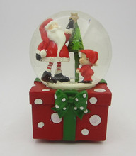 Wonderful Custom Santa/Child/Xmas tree musical snow globe