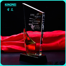 Newest crystal trophy for teachers day gifts,custom crystal award factory