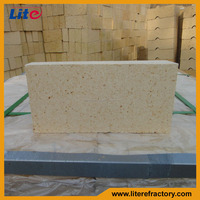 High temperature fire resistant high alumina split thin fire brick for sale for pizza oven/wood fired oven