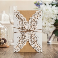 hemp brown string and insert design wedding/ greeting/ birthday card PK14113