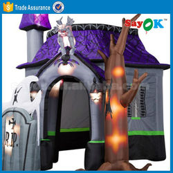 Halloween inflatable haunted house pumpkin ghost cat decoration
