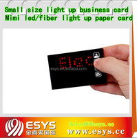 Small lighting up business card for promotional gifts
