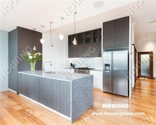 simple kitchen,Laminated finish Kitchen cabinet, marble countertop