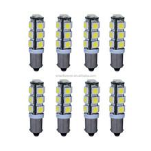 H5W LED Car Lights Bulb Natural White BA9S 5050 13-smd 150 Lumens 194 168 (Pack of 8)