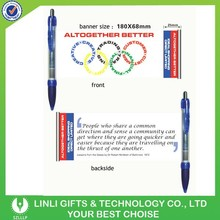 Most popular Plastic Cheap Advertising Banner Pen