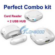 Perfect Combo Kit Usb Hub Card Reader 5-in-1 Camera Connection Kit for iPad iPad2