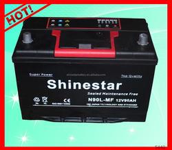 2015 new JIS Standard 90AMP used car batteries Guarantee provided