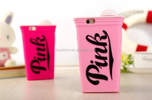 2015 Hot New Products 3D Cute Cup Shape Silicone Case For iPhone 6 4.7 Protective Shell Case