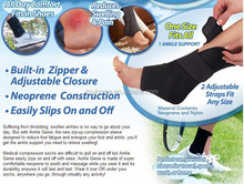 New Ankle brace Zip Up Compression Support One Size Fits All
