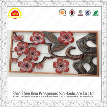 Factory directly sale metal crafts iron wall plum flower art