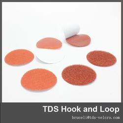black and white double side adhesive hook and loop tape and dots 100% nylon
