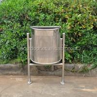 Outdoor stainless steel garbage waste bin