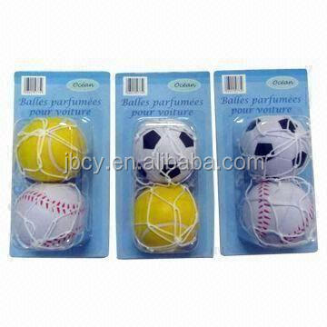 china supplier world cup promotion soccer ball air freshener with net and copula